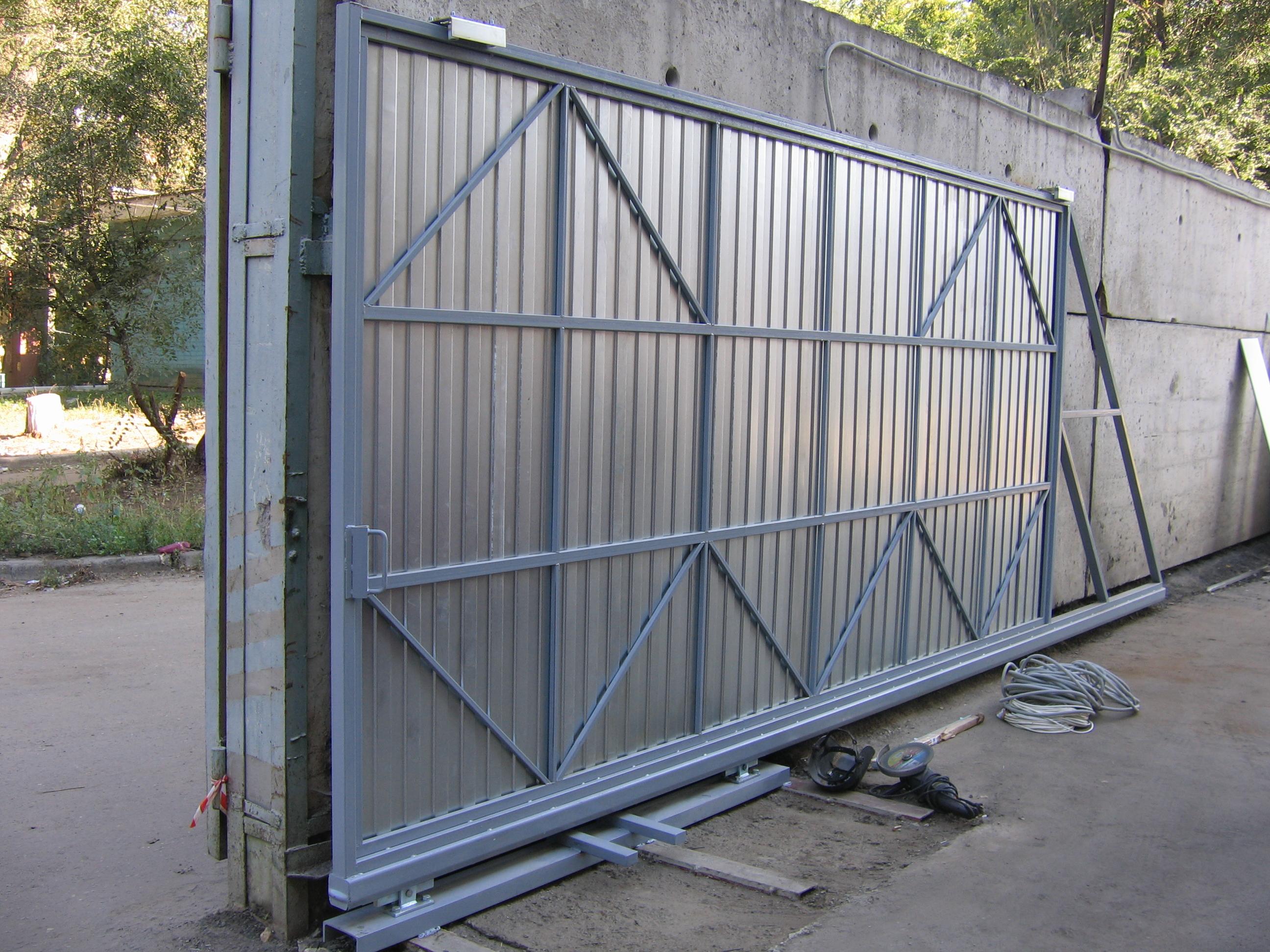 Как сделать рельсы на ворота